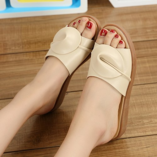 fankou Flat Bottom Cool Summer Sandals Fashion Sandals Female Stylish Outdoor Cool Slippers,41,A Color