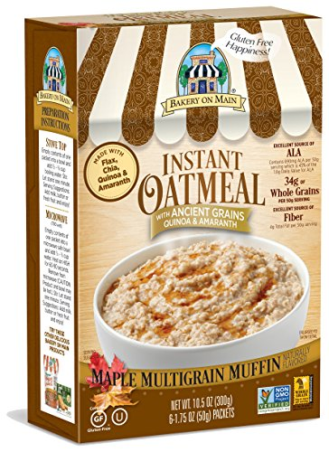 Oatmeal Instant Maple (Bakery On Main Gluten-Free, Non-GMO Ancient Grains Instant Oatmeal, Maple Multigrain Muffin, 10.5 Ounce/6 Count Box (Pack of 3))