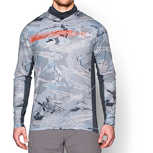 Under Armour Men's UA Thermocline Hoodie, Ridge Reaper Camo Hy (926)/Toxic, -
