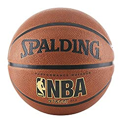 Cement your legend on the concrete court with the Spalding NBA Street Basketball. For dedicated streetball players, this outdoor basketball is built for the playground or games of one on one in the driveway. This basketball has a durable rubber cover...
