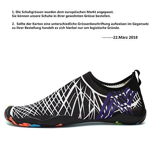 Piscina LeKuni Zapatos Agua Agua Calzado Color Natación de de de Blanco Zapatos de Rápido Soles Unisex Secado Respirable de Playa rqgwTx6tr