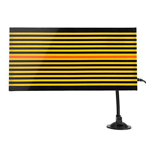 Terisass Paintless Dent Repair Tool, Universal Removal Acrylic Car Dent Repair Board Checking Reflector Line Board with LED Light and USB Black Yellow ()