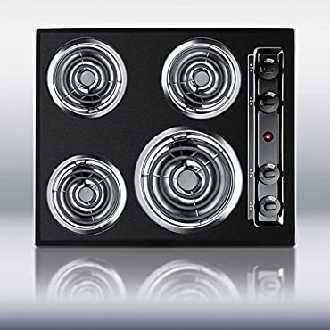 Summit TEL03 Coil Electric Cooktop, Black