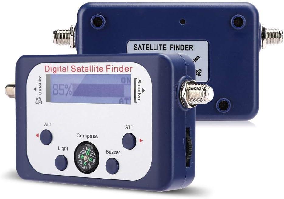 Fasient Elektronischer Signalsucher Satfinder Digital Inline Sensible Hintergrundbeleuchtung 95 l Digital Sucher f/ür Satellitensignale