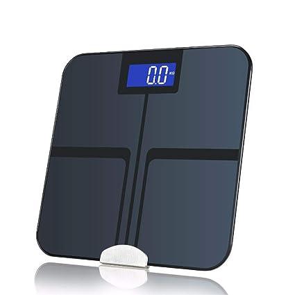 Bluetooth Báscula Alta Medición Precisa Analizador De Composición Con BMI, Grasa Visceral, Masa Muscular