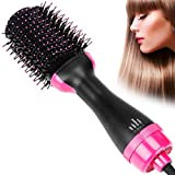 isightguard Hair Straightener Brush,Dry & Straighten & Curl in One Step Hair Dryer and Volumizer, Smooth Frizz with Ionic Technology