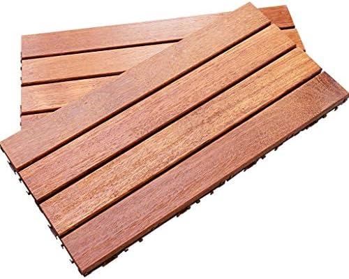 5枚の木の床ガルバンゾ防腐剤木の床60x30cmセットバルコニー壁の装飾屋外DIYスプライシング木製の床