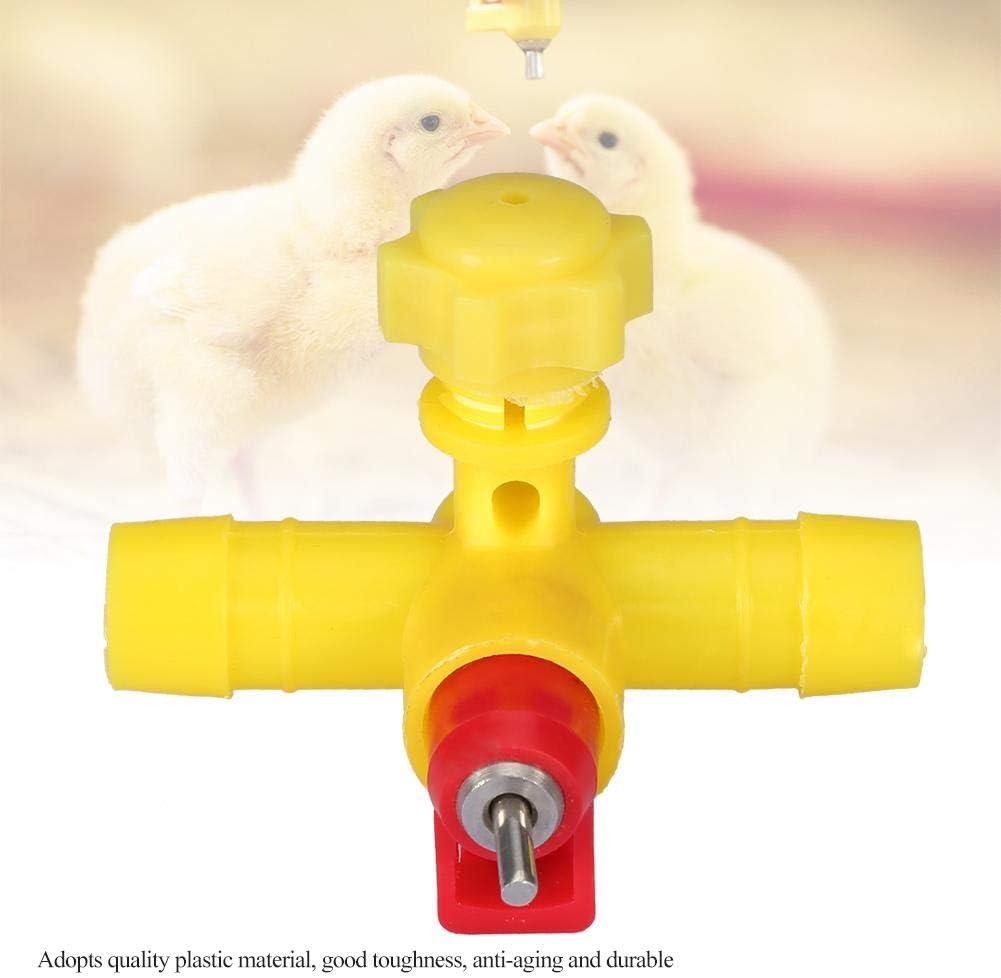 10 Pezzi Capezzolo Automatico per Bevitori di Pollo Alimentatore dAcqua per Animali Dispenser per Bere Acqua Fontanelle per Pollame