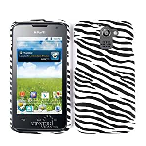Unlimited Cellular Snap-On Case for Huawei Premia M931 (Leather Finish Zebra Print)