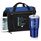 Nurse Gift Set- Includes Briefcase and 20 oz. Stainless Steel BPA-Free Tumbler