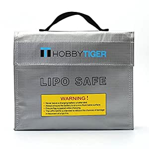 HOBBYTIGER Fire Resistant Bag LiPo Battery Safe Charging Storage Sack Fireproof Explosionproof Guard (Large Sack)