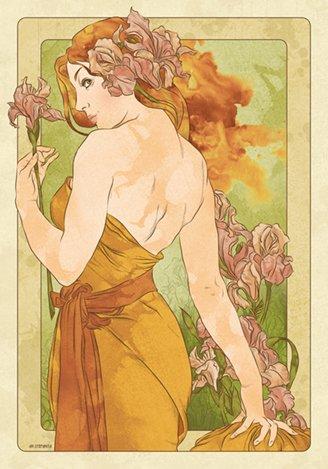 Alphonse Mucha Femmes 3 (36x26 in.)