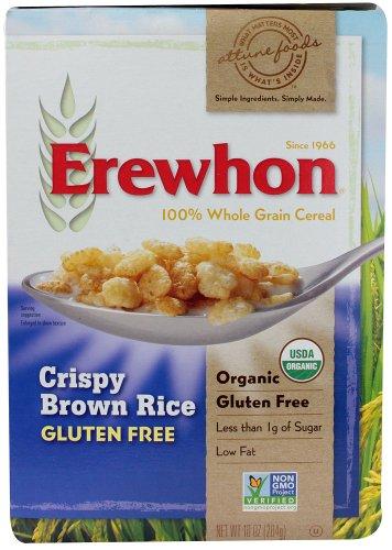 Erewhon Crispy Brown Rice Cereal, Gluten Free, Organic, 10 oz (Pack of - Free Gluten Brown Rice