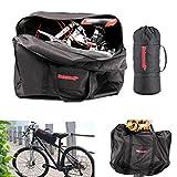 kemimoto Folding Bike Travel Bag Foldable Bicycle Bag Carry Case Fits 14'' to 20'' Bikes