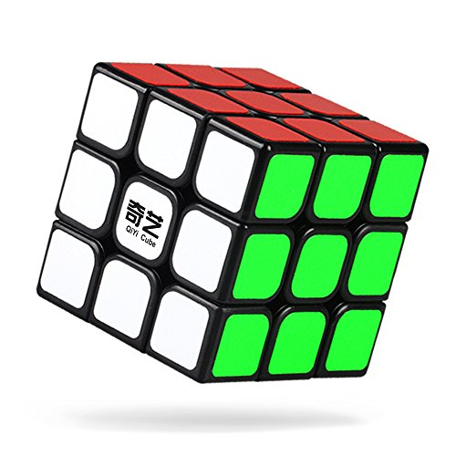 QiYi Speed Cube 3x3 Stickers Smooth Twisty Magic Cube Puzzle Educational Toys for Kids -