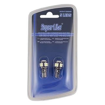 Superlite BOM12626 Blíster de 2 Bombillas Posición 5 LED sin Casquillo, Blanco: Amazon.es: Coche y moto