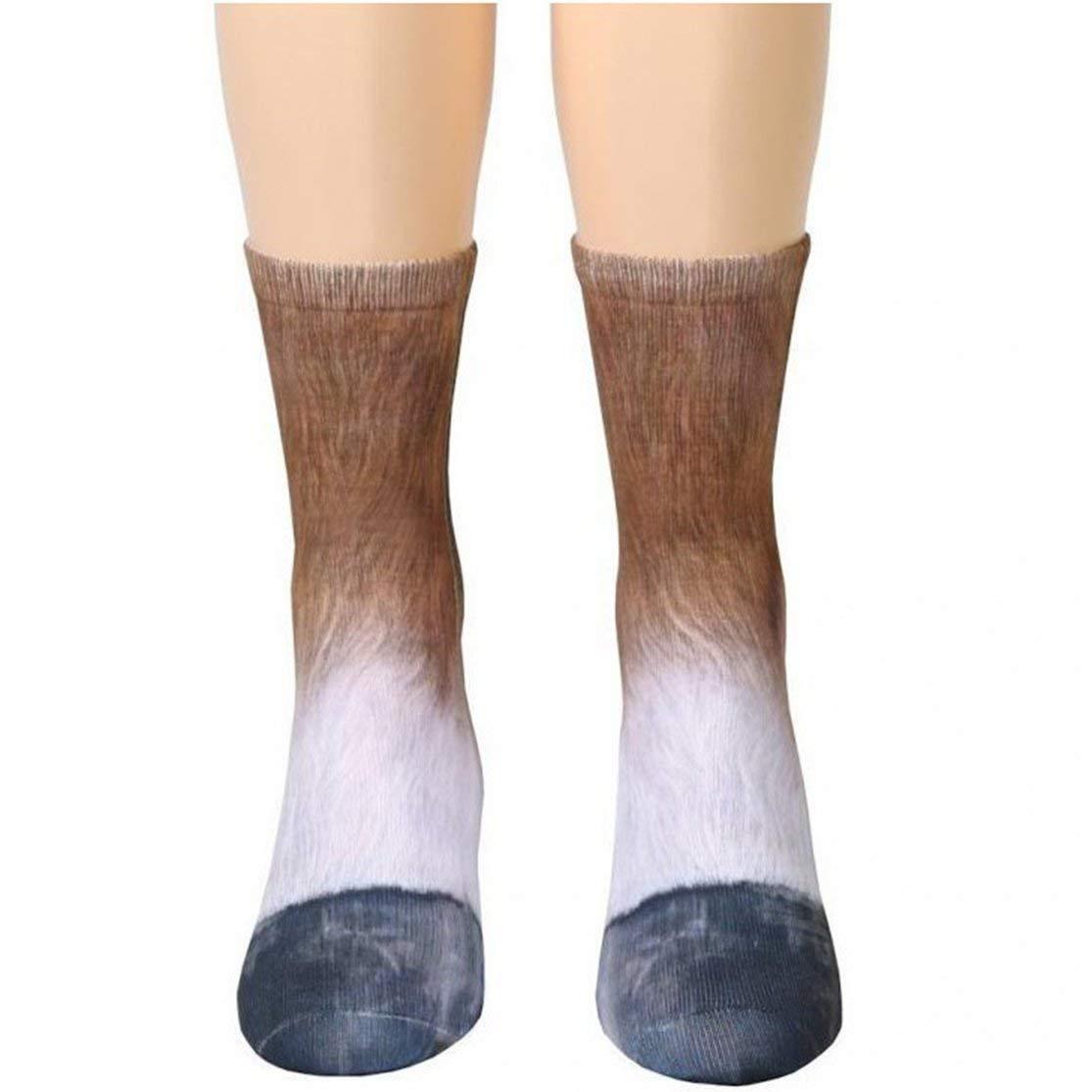 LouiseEvel215 3D Print Animal Foot Hoof Socks Adult Claw Digital Simulation Socks Spot Wholesale Digital Printing Sports Socks