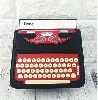 Pnizun - Hombro Casual Negro y Rojo de la Historieta de máquina de Escribir PU del