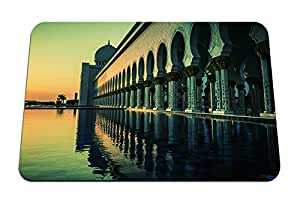 """the grand mosque in abu dhabi at sunset - Gaming Mouse Pad - Mouse Pad - 10.24""""x8.27"""" inches"""