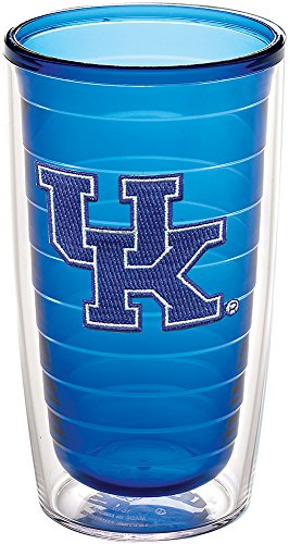 Tervis Kentucky Univ Emblem 16oz Tumbler Sapphire Inner with No Lid, Clear ()