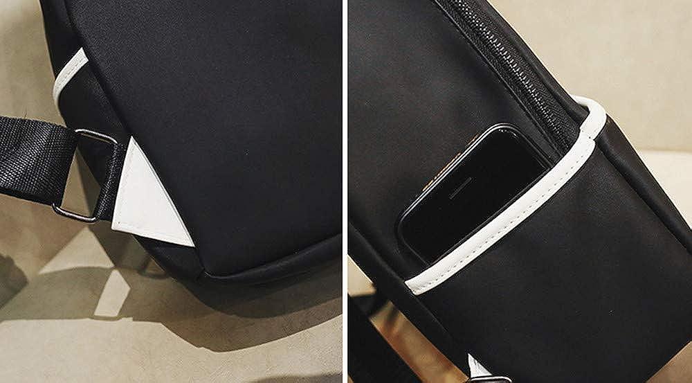 Unisex Girls Boys Solid Print Flock Zipper Backpack School Bag Shoulder Bag