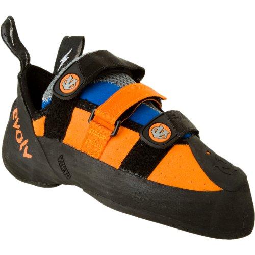evolv Men's Shaman Climbing Shoe,Orange/Blue,6.5 M US, Outdoor Stuffs