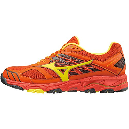 Chaussures Wave ORANGE Homme de Mujin JAUNE Mizuno Running f4w6g
