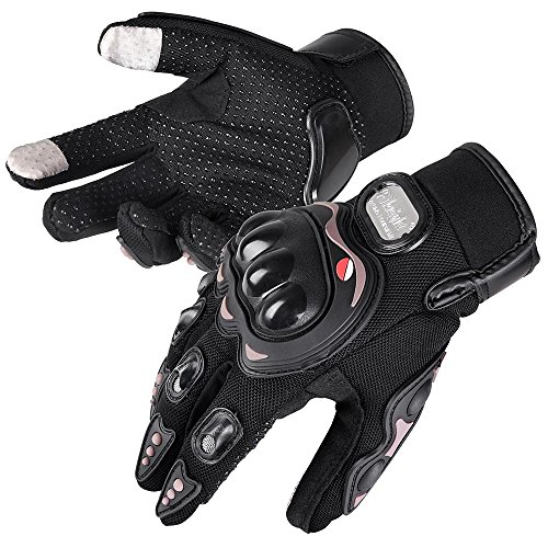 Yescom Motorcycle Full Finger Gloves Motorbike Motocross Cycling Racing Sports Outdoor Screen Touch L