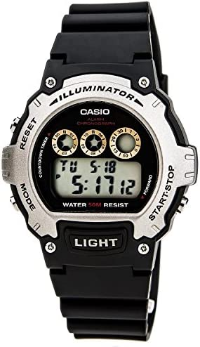 Casio Illuminator Sports Digital Chrono Watch W214H-1AV