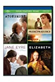 Atonement / Pride & Prejudice / Jane Eyre / Elizabeth Four Feature Films by Universal Studios by Cary Joji Fukunaga, Shekhar Kapur Joe Wright