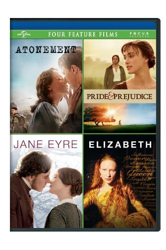 Atonement / Pride & Prejudice / Jane Eyre / Elizabeth Four Feature Films by Universal Studios by Cary Joji Fukunaga, Shekhar Kapur Joe Wright by Universal Studios