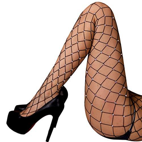 (akiido High Waist Tights Fishnet Stockings Thigh High Stockings Pantyhose )