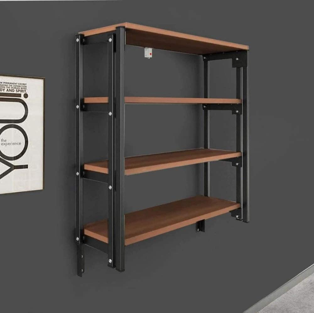 Amazon Com Convertible Console Table Shelf Bookshelf Kitchen Table Wall Mounted Foldable Both Table And Rack Custom Design Multiple Uses Smart Table Solid Metal Body Kitchen Dining