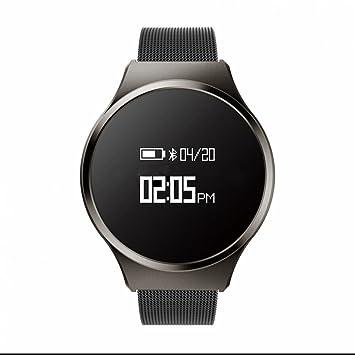 Smart Watch Reloj Inteligente Teléfono con tador de Pasos,Análisis de Sueño Alarmas SilenciOSas Notificaciones Intelligents Monitor Cardio Notificaciones de ...