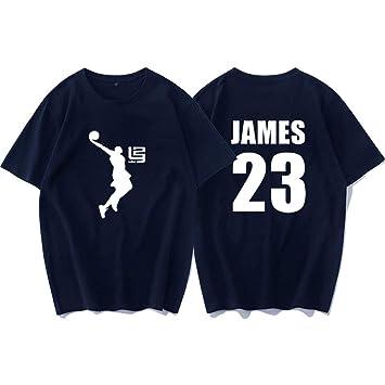 Camiseta de manga corta James 23 Camiseta de entrenamiento de ...