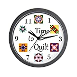 CafePress – Time To Quilt Clock – Unique Decorative 10″ Wall Clock For Sale