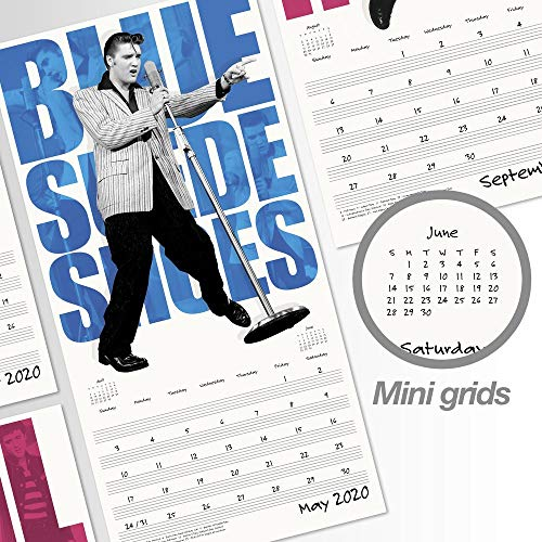Calendrier Srd 2020.Elvis Presley Calendrier Mural 2020 Edition Speciale Avec
