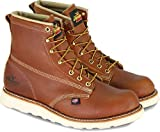 Thorogood 814-4355 Men's American Heritage 6'' Round Toe, MAXWear Wedge Non-Safety Toe Boot, Tobacco Oil-Tanned - 9 4E US
