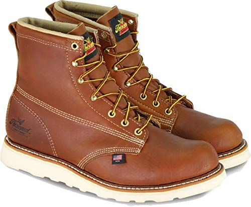 Thorogood 814-4355 Men's American Heritage 6'' Round Toe, MAXWear Wedge Non-Safety Toe Boot, Tobacco Oil-Tanned - 8.5 4E US by Thorogood (Image #5)