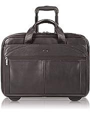Deal on Solo Walker 15.6 Inch Premium Leather Rolling Laptop Case, Espresso
