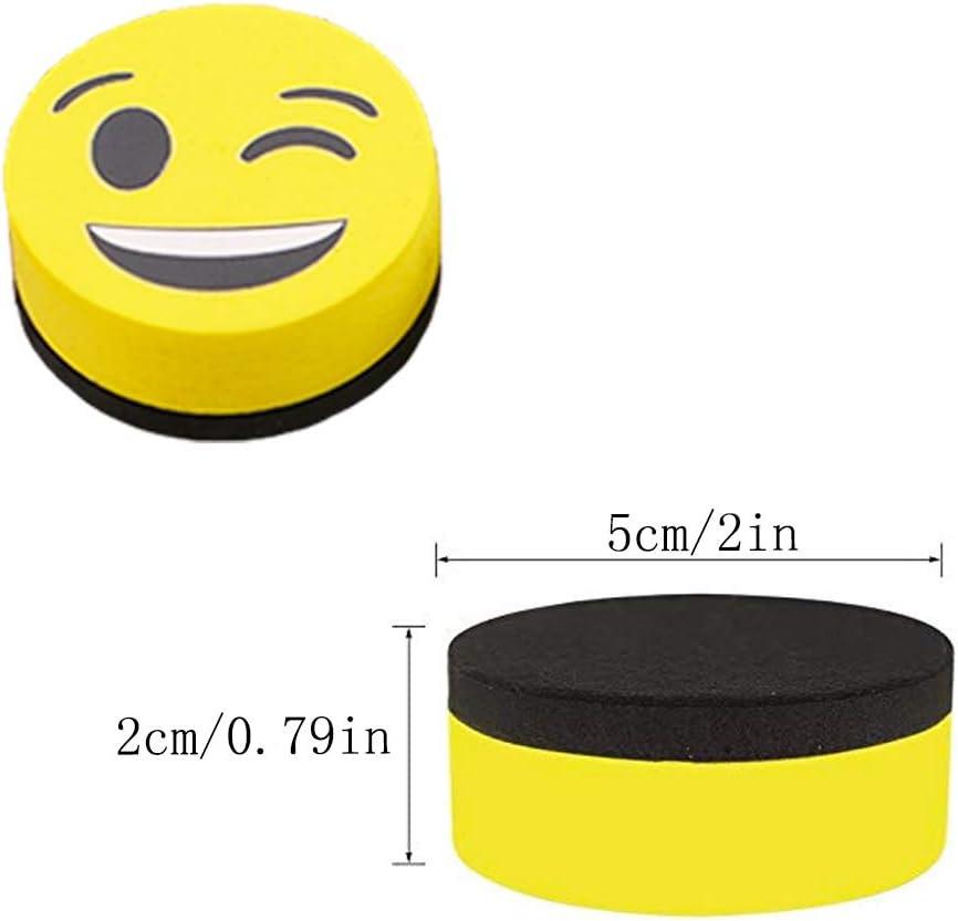 B/üro Schule trocken abwischbar Familie 4pc Emoji-Zeichentafel X-BLTU Smiley Magnetisches Whiteboard Reinigungsradierer f/ür Kinder Lehrer
