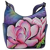 Anuschka Handbags Women's 382 Classic Hobo With Side Pockets Magnolia Melody Handbag
