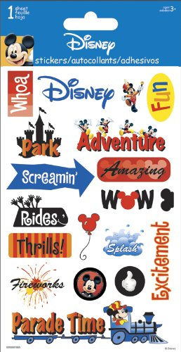 Disney Stickers For Scrapbooking - Sandylion Disney Adventure Gems Stickers 4