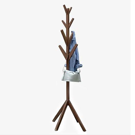 Amazon.com: Perchero de madera maciza de tres colores para ...