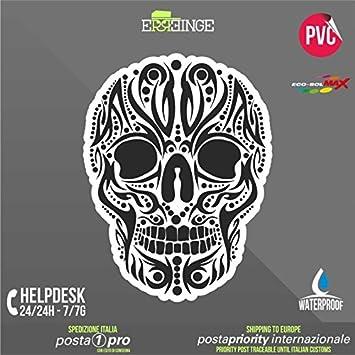 Erreinge Sticker Kontur Aufkleber 18cm Schädel Skull Bike Scooter