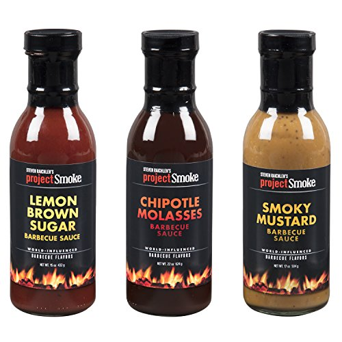 (Steven Raichlen Project Smoke BBQ Barbecue Sauce Combo Gift Pack- 3 Pack Southern Grilling Barbeque Set)