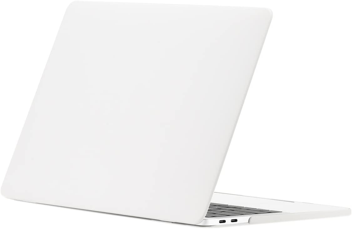 "TOP CASE MacBook Pro 15 inch Case 2019 2018 2017 2016 Release A1707 A1990, Classic Series Rubberized Hard Case Cover Compatible MacBook Pro 15"" Touch Bar- Satin White"