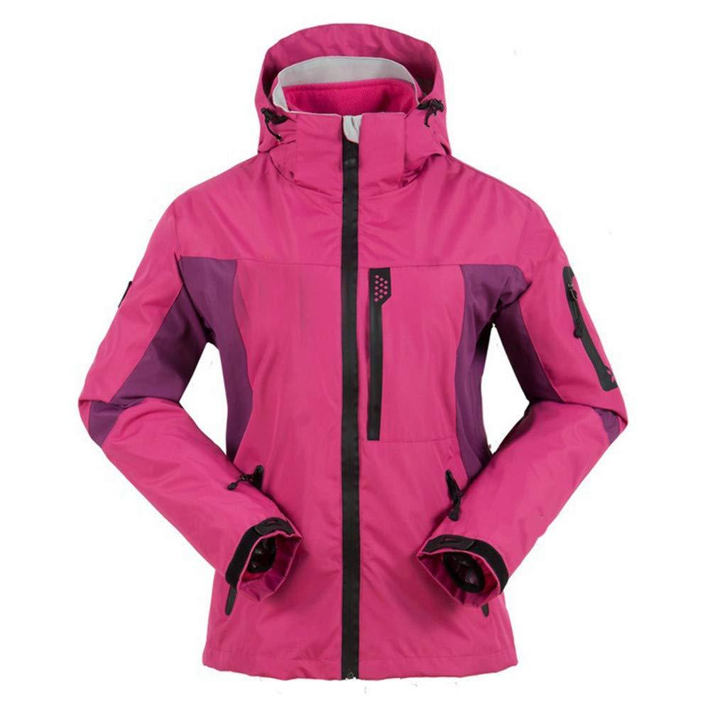 AiNaMei Damen Outdoorjacken Fleece Warme Skianzüge