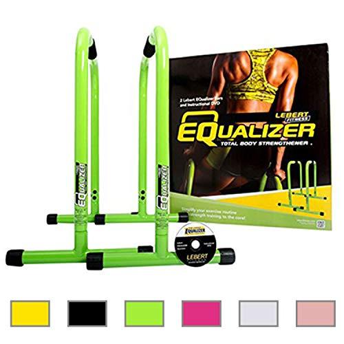 Lebert Fitness Equalizer Bars Total Body Strengthener, Green by Lebert (Image #1)