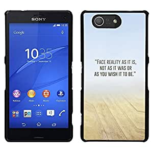 // PHONE CASE GIFT // Duro Estuche protector PC Cáscara Plástico Carcasa Funda Hard Protective Case for Sony Xperia Z3 Compact / Sand Desert Mist Yellow Blue N Nature /